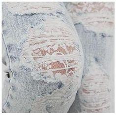 lace+destroyed denim