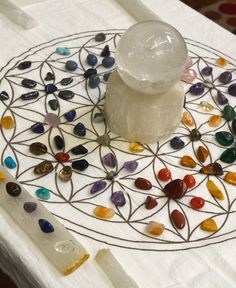 Learn how to make a crystal grid at our Holiday Boutique! They are often times more powerful than using just a single crystal for directing energy towards a specific result. #crystal #crystalgrids