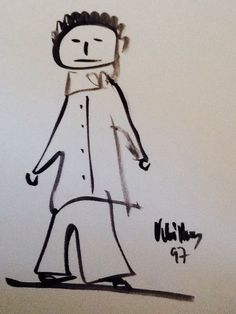 Figura , dibuix a tinta sobre paper