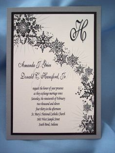 Chic Winter Wedding Invitations Keywords: #weddings #jevelweddingplanning Follow Us: www.jevelweddingplanning.com  www.facebook.com/jevelweddingplanning/