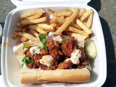 Oyster Po'boy from Carolina Creole food truck