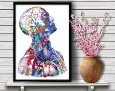 Menschlicher Kopf und Torso Anatomie Kunstdruck Kopf Hals und | Etsy Museum, Dna, Globe, Etsy, Human Head, Science Art, Anatomy Art, Original Paintings, Art Print