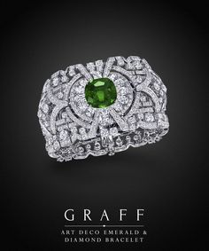 Graff Diamonds: Art Deco Emerald & Diamond Bracelet