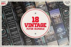 18 VINTAGE RETRO Flyer Bundle by WG-VISUALARTS on @creativemarket
