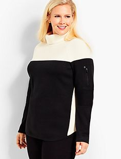 Talbots offers apparel in misses, petite, plus size and plus size petite. Ski Sweater, Talbots, Turtleneck, Color Blocking, Bell Sleeve Top, Plus Size, Clothes For Women, Sweaters, Tops