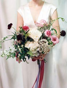 Romantic Berry Wedding Bouquet