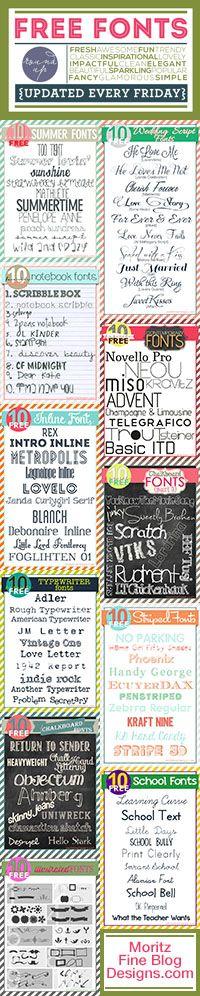 new free fonts, upda