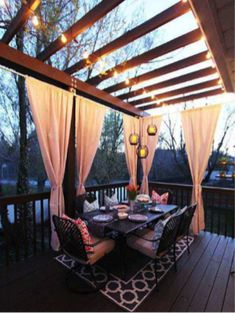 Houseplants for Better Sleep Deck Decorating Ideas: A Pergola, Lights And Diy Cement Planters Small Pergola, Pergola Attached To House, Backyard Pergola, Pergola Shade, Diy Patio, Pergola Kits, Pergola Ideas, Pergola Cover, Pergola Swing