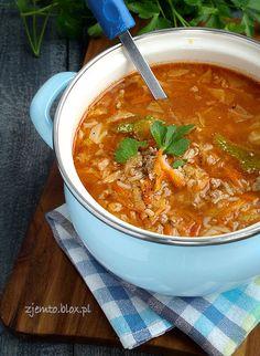 Zupa gołąbkowa – Zjem to! Ketogenic Recipes, Keto Recipes, Vegan Gains, Best Soup Recipes, Brunch, Tasty, Yummy Food, Polish Recipes, Keto Dinner