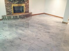 Gray Concrete Staining - Rockford Il