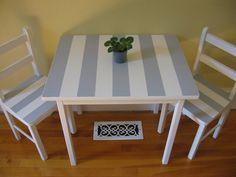refurbish a cute kids table