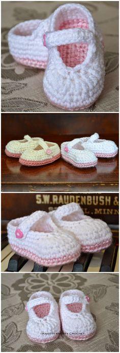 Pretty & Plain little Mary Jane FREE crochet pattern