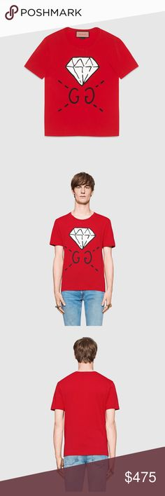 BNWT AUTHENTIC GUCCI GHOST GG DIAMOND TEE SHIRT BNWT authentic gucci ghost diamond tee shirt. this is a men's tee but can be worn unisex! no trades! Gucci Shirts Tees - Short Sleeve