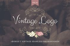 Vintage logo templates Vol 1 by Lisa Glanz on Creative Market
