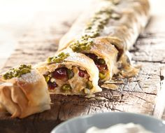 <p>These vegan Pear Strudels, drizzled with pistachio pesto, are great during the summer months with a scoop of vegan ice cream or chilled soy whipped cream.</p>