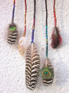 hair clip wraps with feathers from pusarin by DaWanda.com