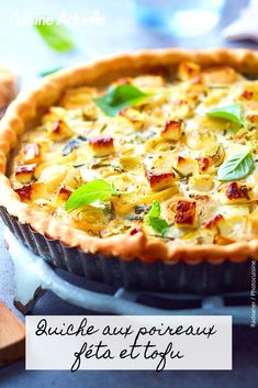 Découvrez vite cette recette. Tofu, Recipe Database, Frittata, Pizza, Blog, Cooking, Sweet, Desserts, Drinks