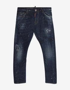 Dsquared - Blue Sexy Twist Jeans with Bandana Attachment