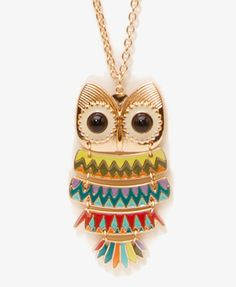 My owl necklace from forever21