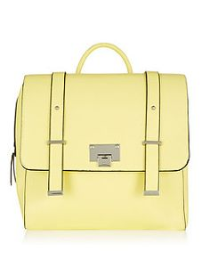 Stone Square Satchel Backpack  | New Look