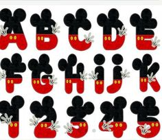 MICKEY ALPHABET & NUMBERS applique por ForeverRoseApplique en Etsy
