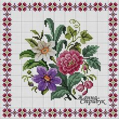 VK is the largest European social network with more than 100 million active users. Cross Stitch Heart, Cross Stitch Borders, Cross Stitch Flowers, Cross Stitch Designs, Cross Stitching, Cross Stitch Embroidery, Hand Embroidery, Cross Stitch Patterns, Embroidery Designs