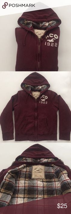Men's Hollister zip Hoodie Men's thick Hollister zip Hoodie Hollister Sweaters Zip Up