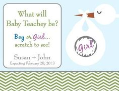 Our fun scratch off baby gender announcement! I can make more if you know someone interested!!