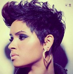 Short Hair for Black Women | a estas nigga beauties todo les queda bien. god damn it
