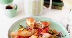 Découvrez cette recette de Calmars farcis à la viande en sauce tomate pour 6 personnes, vous adorerez! Tomate San Marzano, Sauce Tomate, Shrimp, Food La, Tomatoes, Stuffed Calamari, Cook, Yummy Recipes, Seafood