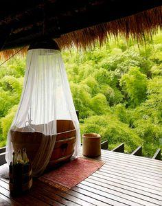A bath tub with a view: @Mandy Bryant Dewey Seasons Resort Koh Samui, Thailand #Thailand