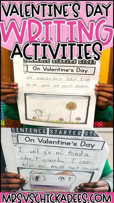 12 Valentine's Day Activities You'll Love Valentine's Day themed lessons and activities for students in kindergarten or first grade. Fun and engaging phonics, math and writing activities and lessons that are perfect for Valentine's Day. Valentines Writing Kindergarten, Valentines Writing Prompts, Kindergarten Writing Prompts, Kindergarten Lesson Plans, Valentines Day Activities, Writing Lessons, Math Lessons, Handwriting Activities, Phonics Activities