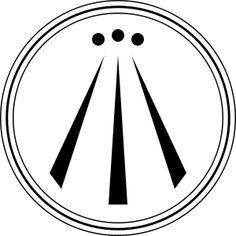 Awen; símbolo celta que simboliza la armonía entre lo opuesto.