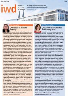 http://berufebilder.de/wp-content/uploads/2016/05/iwd-koeln-2016.jpg Home-Office-Statement in Publikation des IWD: Die Unternehmenskultur muss passen