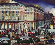 La Comedie-Francaise (oil on canvas), by Lucien Genin (French, 1894-1953)