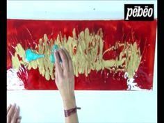 Pébéo - Mixed Media: mixing Studio Acrylics, Vitrail et Fantasy colors on a 3D frame - YouTube