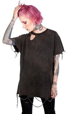 Destroyed T-Shirt #disturbiaclothing disturbia distressed vintage washed metal alien goth occult grunge alternative punk