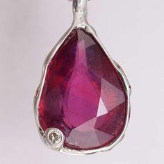 Rubin Diamant Anhänger