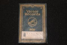 Victor Records 1920 Full Catalog including Red Seal releases, biographies, pricing and more (78 rpm vinyl records)
