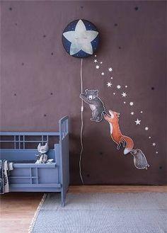 Hartendief  Wandlamp wonderlamp + muurstickers Slaap zacht kleine ster