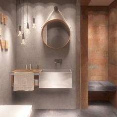 Łazienka gościnna z prysznicem: styl Nowoczesny, w kategorii Łazienka zaprojektowany przez FAMM DESIGN