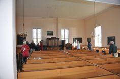 Inside the Scottish Church at Highland Village Museum near Sydney, Canada.