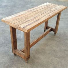 timber bar table - Google Search