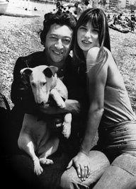 Serge Gainsbourg, Jane Birkin & pet
