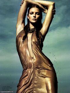 Model: Eniko Mihalik | Photographer: Sofia & Mauro - 'Naiad' for Numéro #130, February 2012