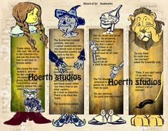 Wizard of OZ Bookmarks digital download file. $3.50, via Etsy.