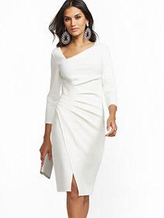 Etuikleid mit V-Ausschnitt Avenue New York & Company Elegant Dresses, Pretty Dresses, Sexy Dresses, Casual Dresses, Short Dresses, Fashion Dresses, Dresses For Work, Formal Dresses, Summer Dresses