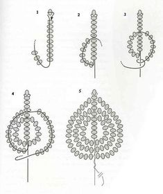 Best 5 French beaded flowers - petal or leaf tutorial Beaded Flowers Patterns, Jewelry Patterns, Beading Patterns, Bead Jewellery, Seed Bead Jewelry, Beading Projects, Beading Tutorials, Seed Bead Flowers, Wire Flowers