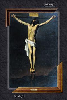 Canvas framed print, Christ Crucified, Francisco de Zurbarán, giclee canvas, gold framed, nameplate by GoldFramedCanvas on Etsy