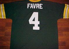 Brett Favre 4 Green Bay Packers Central Logo 7 NFL NFC Football Yellow Jersey XL #Logo7 #GreenBayPackers